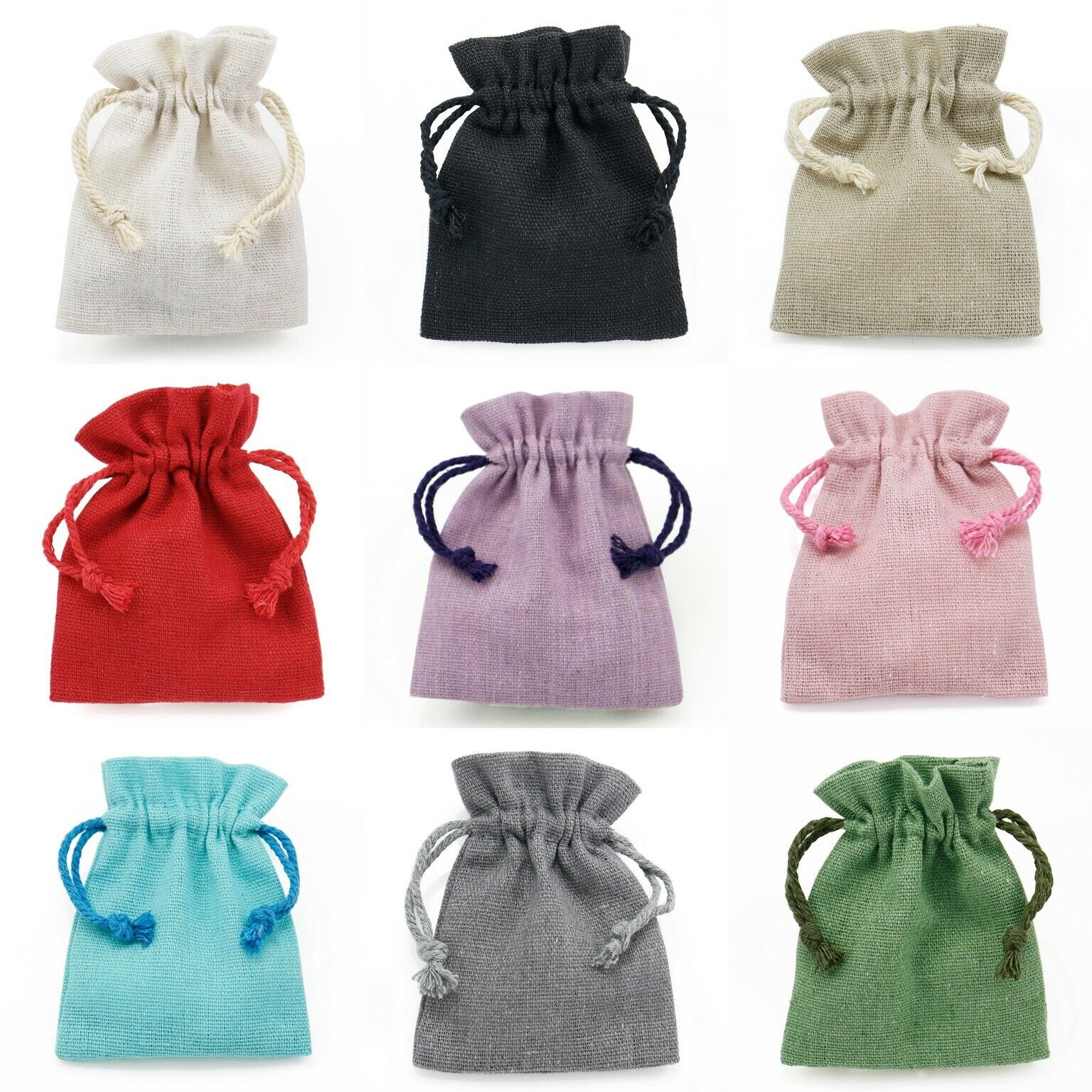 Jewellery - Cotton Linen Drawstring Gift Bags Jewellery Pouches High Quality Wholesale