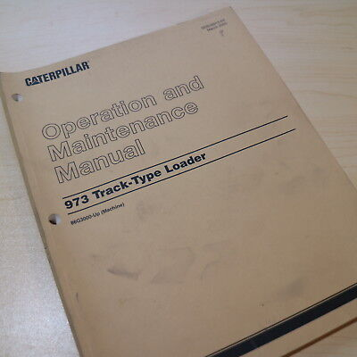 Cat Caterpillar 973 Track Loader Operation Operator Maintenance Manual Crawler