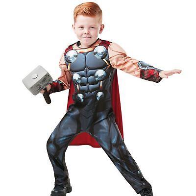 Boys Deluxe Thor Costume Marvel Avengers Superhero Child Fancy Dress Outfit