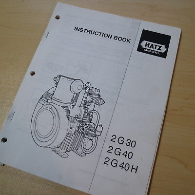 Hatz 2G 30 40H Diesel Engine Motor Instruction Owner Operator Operation Manual