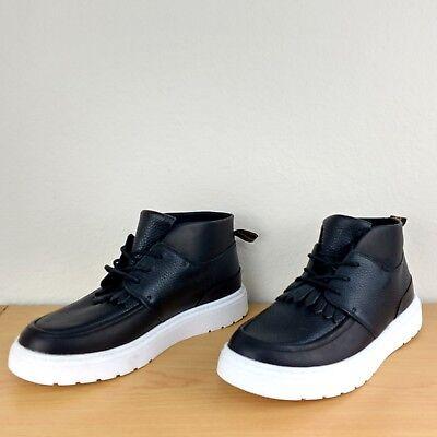 Dr. Martens Jemima Kiltie Chukka Mid Black Leather Moc Toe Boots Shoes Womens 10 Dr Martens Moc Toe