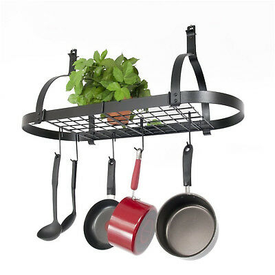 Pot Rack Hooks Rustproof Hanging Hangers Kitchen Utensils Cookware Heavy Duty