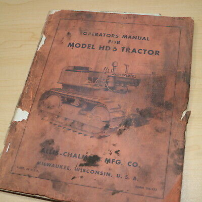 Allis Chalmers Hd6 Tractor Dozer Crawler Owner Operator Operation Manual Book