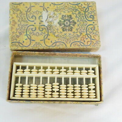 Vintage Mini Abacus on Marble Base in box