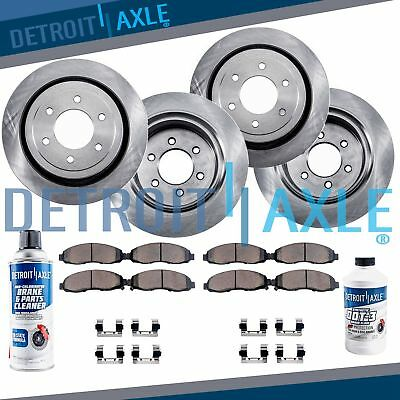 Front  Rear Brake Rotors  Ceramic Pads Chevy  GMC Silverado Sierra 1500 Tahoe