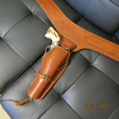 Edward H. Bohlin Leather Western/Cowboy RH Holster & Belt Rig  in BROWN
