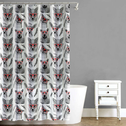 Woodland Creatures EVA PEVA Shower Curtain 70″x72″ Red – Splash Home Bath