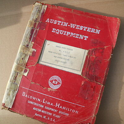 Clark Austin Western 400 500 Pacer Super Power Motor Grader Parts Catalog Manual