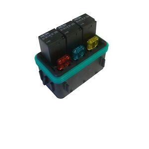 waterproof fuse box accessory waterproof sealed fuse relay panel block atv utv car truck ... waterproof fuse block