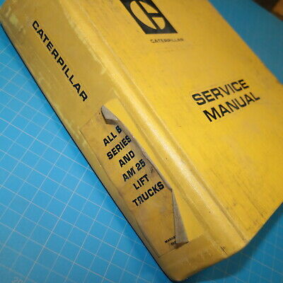 Caterpillar B Series Am25 Forklift Service Manual Towmotor Book Repair Cat Shop
