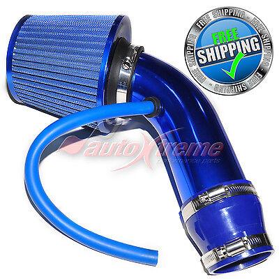 Universal COMPLETE COLD AIR INTAKE Induction KIT HOSE System & JDM Filter BLUE