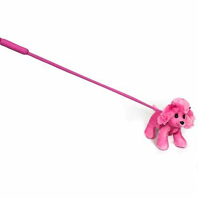 FunStuff Pink Poodle Plush Dog on a Retractable Leash Stuffed Animal