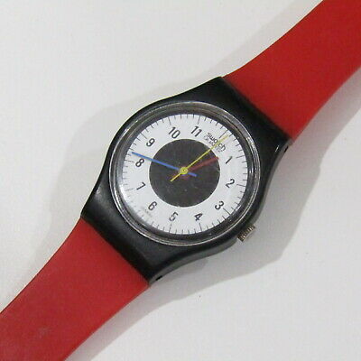 """Vintage 80's SWATCH Watch """"Chrono Tech"""" LB104 1984 25mm *Missing part of strap*"""