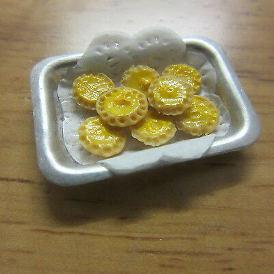 1/12 scale Dolls House Food  Tray of Lemon Curd Tarts    S56 (Lemon Curd Tart)