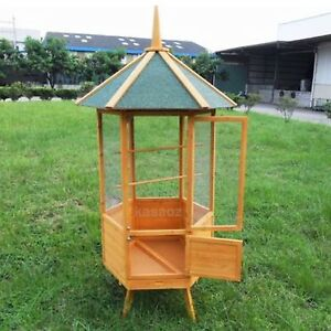 NEW EXTRA LARGE KASA FIR WOOD WIRE MESH PARROT AVIARY BUDGIE  CANARY BIRD CAGE