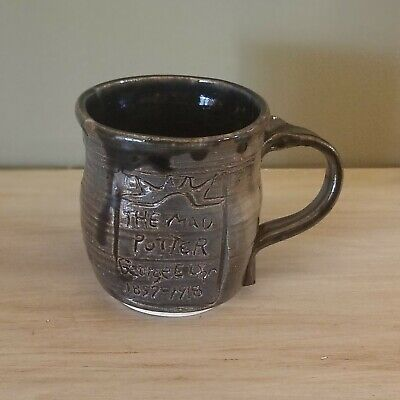 George Ohr Style Memorial Pottery Mug Handmade Signed Kim Kendall 93 Stoneware  George Ohr Pottery