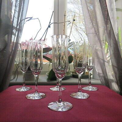 6 Flutes Da Champagne IN Cristallo Di Baccarat Modello Capri Firmato L 2