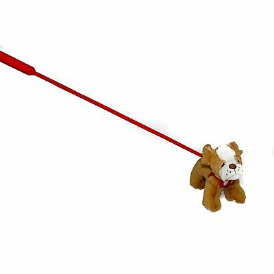 FunStuff Bulldog Plush Dog on a Retractable Leash Stuffed Animal - Stuffed Bulldog
