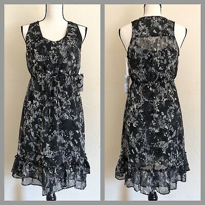 NWT Converse One Star Women's Black And Gray Camouflage Pattern Sheath Dress XS