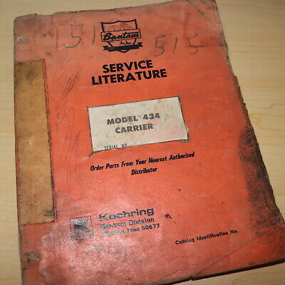 Koehring Bantam 434 Carrier Parts Manual Book Catalog List Spare Truck Mounted