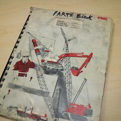 Fmc Link Belt Speeder Ls-108b Crawler Crane Parts Manual Book Catalog List Spare