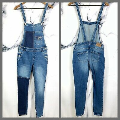 Superdry Denim Dungarees Overall Stretch Womens Size Small