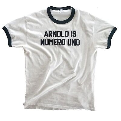 Arnold is Numero Uno Authentic T-shirt from the movie 'Pumping Iron' - L Arnold Is Numero Uno T-shirt