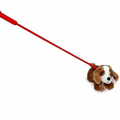 FunStuff Dark Brown Plush Dog on a Retractable Leash Stuffed Animal