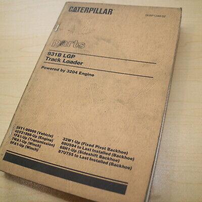 Cat Caterpillar 931b Track Loader Parts Manual Book Catalog 26y Spare Crawler