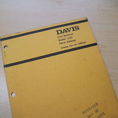 Case Davis D70 Loader Backhoe Parts Manual Book Attachment List Catalog Spare