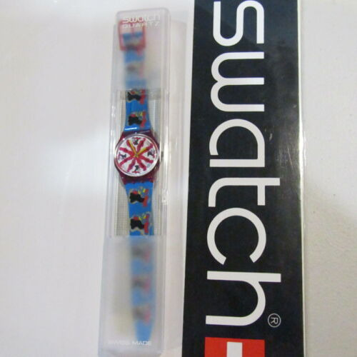"Vintage SWATCH Watch ""Chicchirichi"" GR112 1992 Rooster NEW Old Stock"