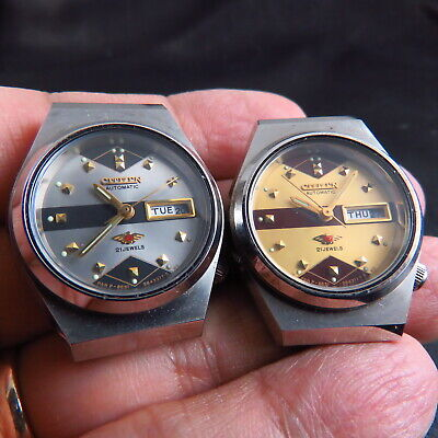 TWO OLD STOCK JAPAN CITIZEN DAYDATE AUTO LADY WATCH