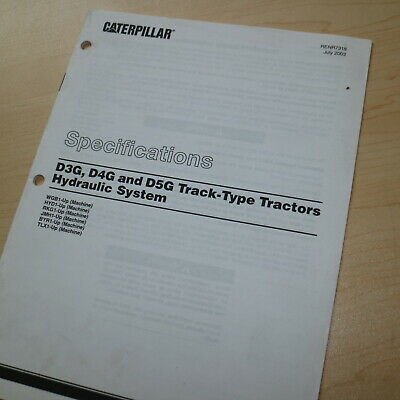 Caterpillar D3g D4g D5g Tractor Hydraulic System Specification Service Manual