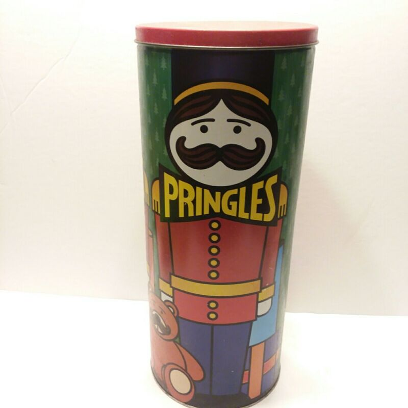"Pringles Tin Can Canister P&G Proctor & Gamble Vintage 2000 Nutcracker 16"" Tall"