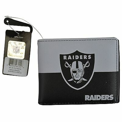 Brand New Nfl Oakland Raiders Men Women Synthetic Leather Bi Fold Wallet
