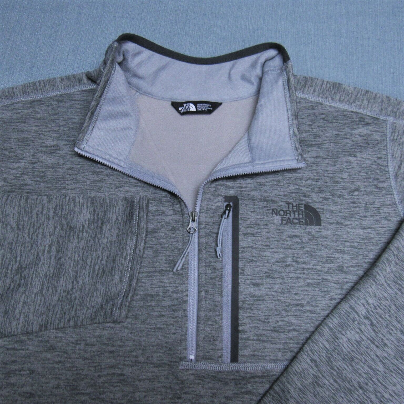 THE NORH FACE 1/4 ZIP THERMAL POLY SPANDEX PULLOVER-2XL-PERFECT SPOTLESS -NICE  - $5.74