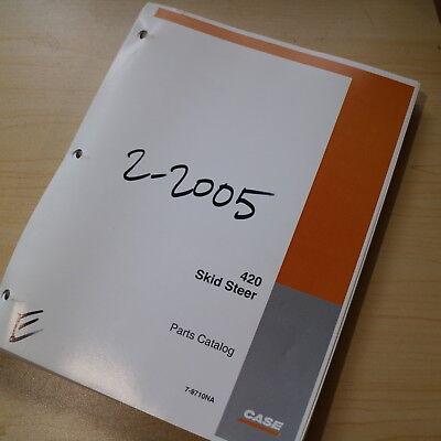 Case 420 Mini Skidsteer Loader Parts Manual Book Catalog Spare 7-9710 List 2004