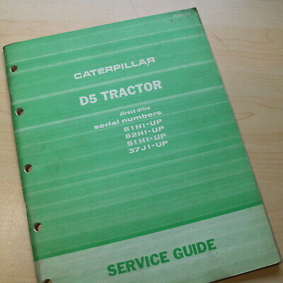 Cat Caterpillar D5 Tractor Dozer Crawler Maintenance Service Guide Manual Book