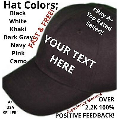 CUSTOM PERSONALIZED Multi Color Embroidered Baseball Hats Caps - Personalized Baseball