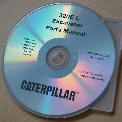 Cat Caterpillar 320e L Crawler Excavator Spare Parts Manual Book Catalog Cd 2012