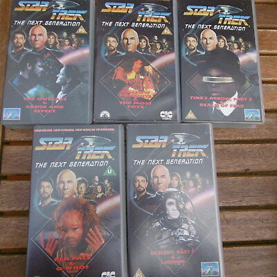 10x STAR TREK The Next Generation Folgen auf 5 VHS-Kassetten (in englisch)