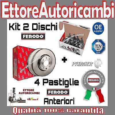 KIT DISCHI + PASTIGLIE FERODO ANTERIORI ALFA ROMEO 147