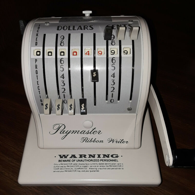 Paymaster 8000 Ribbon Writer - IMMACULATE CONDITION