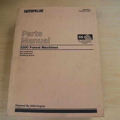 Cat Caterpillar 320c Forest Machine Harvester Parts Manual Catalog Book Crawler