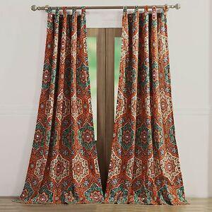 Good Window Treatment Panel Pair Sophia Medallion Boho Chic Curtains