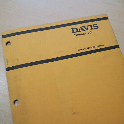 Case Davis Trimline 70 Walk Behind Trencher Parts Manual Book Catalog Spare List