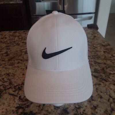 a7d399b6038 NIKE GOLF UNISEX Men Women AEROBILL baseball hat cap VENTED Adjustable White