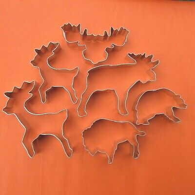 Animal shaped, Bear, Deer, Buffalo Cookie Biscuit Cutters Shaped Cookie Cutter