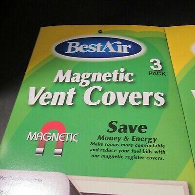 BestAir Magnetic Register Vent Covers 3 Pack Size: 8 x 15.5 in, RN# VC1,Lot of 2 Magnetic Register Covers