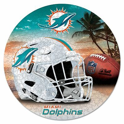 NFL Miami Dolphins rundes Puzzle Puzzel Football 500 Teile pcs 51cm